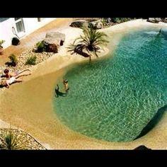 A pool that looks like the beach