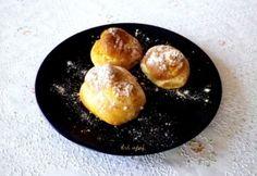 Almás fánk sütőben sülve Griddle Pan, Pretzel Bites, Baked Potato, Hamburger, Bread, Baking, Breakfast, Ethnic Recipes, Desserts