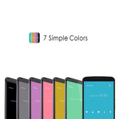 """7 Simple Colors"" 4/1 '15 http://app.android.atm-plushome.com/app.php/app/themeDetail?material_id=1233&rf=pinterest #wallpaper #design #icon #beautiful #simple #apps #android #cool"