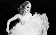 Sally Rand was an American Burlesque dancer famous in the 1930s for her Ostrich feather dance