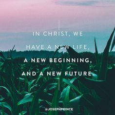 In Christ, we have a new life, a new beginning, and a new future.