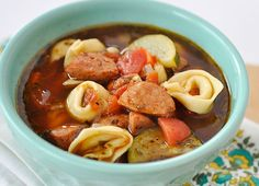 Johnsonville Sausage and Tortellini Soup