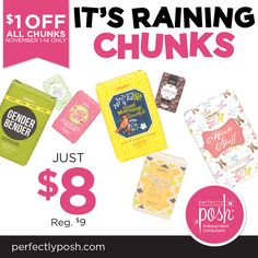 Chunks for everyone! These make great stocking stuffers, gifts for friends or even a special treat for yourself. Get yours for just $8!
