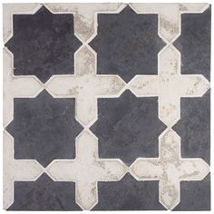 Handcrafted concrete tile with rustic surface and irregular edges. For interior and exterior installations; grout joint Pieces Cross Picket and 2 Pieces Star per Sq. Arabesque Tile, Arabesque Pattern, Tudor Kitchen, Kitchen Tile, Kitchen Flooring, Kitchen Island, Surface Studio, Surface Design, Magnolia Design