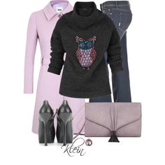 """""""Burberry Owl Sweater"""" by stacy-klein on Polyvore"""