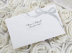 Silver Foil Ribbon Wedding Invitations – SW 5041 | ItsInvitation