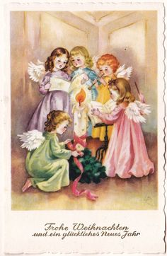 LUISE REIHER ANGIOLETTI ANGES ENGEL - angeli neve Buon Natale | eBay