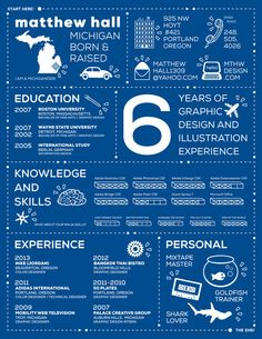 INFOGRAPHIC RESUME by matthew hall, via Behance