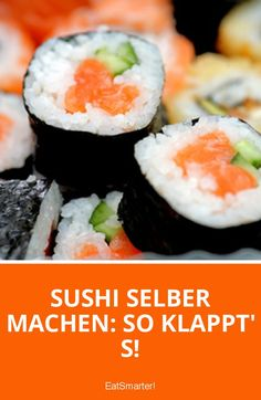 Make sushi yourself: how it works!- Sushi selber machen: So klappt's! Make sushi yourself: So works & # s! Cheap Healthy Dinners, Healthy Summer Recipes, Tempura, Sushi Guide, Dessert Chef, Sushi Co, Vegan Wraps, Vegan Sushi, How To Make Sushi
