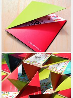 triangular square leaflet