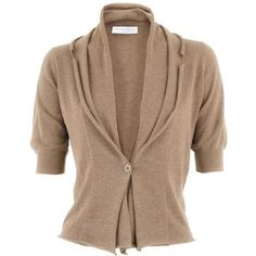 Fabiana Filippi Nut Cotton Cardigan Nubbie