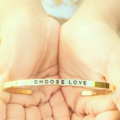 I believe that every single event in life happens in an opportunity to choose love over fear. ~ Oprah Winfrey  #jewelry #quotes #inspiration #mantraband