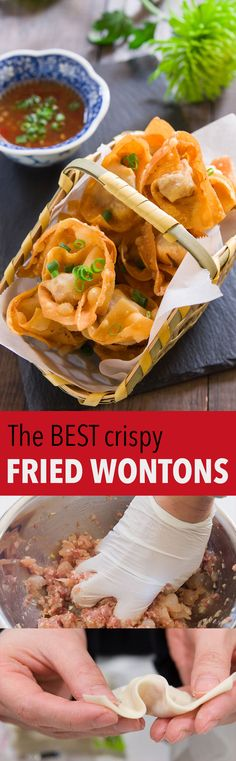 A few simple tricks for getting ultra crispy fried wontons that stay crisp long after you've fried them.