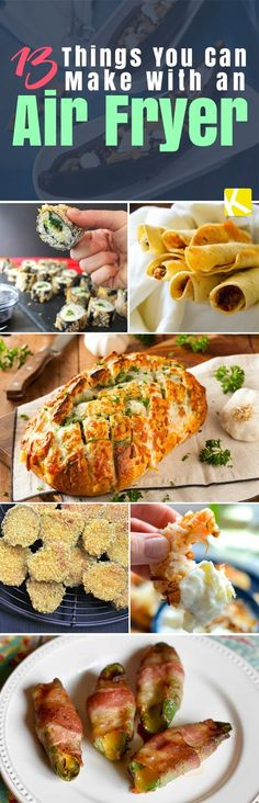 13 Surprising & Easy Air Fryer Recipes You Must Try - Walmart Recipes - Ideas of Walmart Recipes - Are you watching what you eat in the New Year? You don't have to give up fried foods for good just change the way you fry them. Cue the air fryer. Air Fryer Oven Recipes, Air Frier Recipes, Nuwave Air Fryer, Dry Fryer, Philips Air Fryer, Cooking Recipes, Healthy Recipes, Cooking Ideas, Healthy Meals