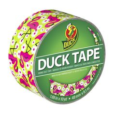 Printed Duck® brand duct tape - Flamingo http://duckbrand.com/products/duck-tape/prints/standard-rolls/flamingo-188-in-x-10-yd?utm_campaign=color-duck-tape-general&utm_medium=social&utm_source=pinterest.com&utm_content=printed-duct-tape
