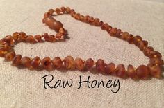 Baltic Amber Teething Necklace Raw Honey Newborn 10.5 to 11 inch Infant fever cold red cheeks fussiness drool