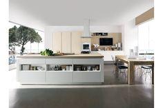 BS 08 | Cucina Laccato Opaco con Penisola