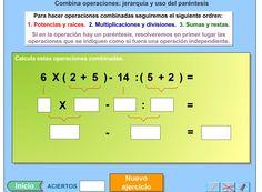 """Juego Educativo """"Operaciones combinadas"""". IDEAL PARA NIÑOS A PARTIR DE 8 AÑOS. #docencia #juegos #educacion ► http://www.seclen.com/iniciar_juego.php?id_juego=200"""