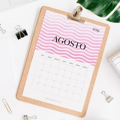calendario 2019 agosto Calendar 2019 Printable, Print And Cut, Projects To Try, Notebook, Bullet Journal, Pattern, Journal Ideas, Joker, Templates