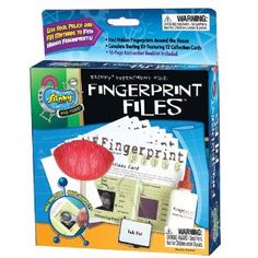 Fun Lab Fingerprint Files - Learn actual police and FBI methods to collect the fingerprints of your friends, or any suspects that might be lurking about!