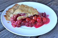 Cherry pie with evans cherries - if you eat it warm (because you just can't wait) it will be runny. Will solidify by next day. Excellent with ice cream.
