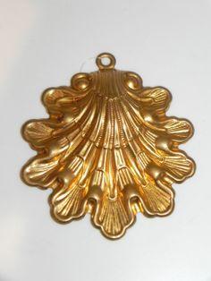 Brass Clam Seashell Christmas Ornament by baublesandblingforu, $2.00
