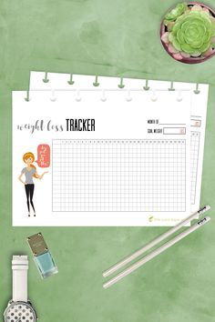 Weight Loss Tracker Happy Planner MINI Insert, Print at Home, PDF Economical, Printable, Monthly Tracker, Fitness Tracker, MAMBI by littlecranepaperco on Etsy