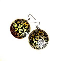 1980's Vintage Jewelry-Gold & Black Oriental Ethnic  by XenaStyle