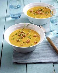 Das Rezept für Möhren-Ingwer-Suppe mit Nordseekrabben und weitere kostenlose Rezepte auf LECKER.de