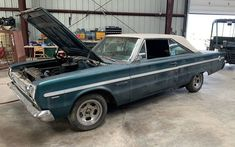 This 1966 Plymouth Belvedere was once a sharp-looking two-tone car with a 383 V8. While it may not run, it has a numbers-matching drivetrain. #BelvedereII, #Plymouth