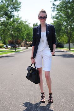 SHORTS WITH BLAZERS ~ Thread Ethic | Modest Fashion Blog