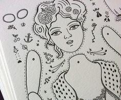 paper doll letterpress print edition 10 - Crankbunny Shop