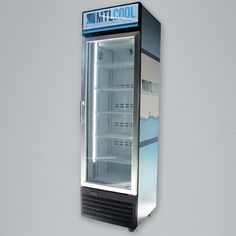 The and slim glass door cooler and freezer. Designed to fit inline, side by side, within a 4 foot section. Merchandising Displays, Inline, Glass Door, Freezer, Lockers, Locker Storage, Slim, Doors, Design