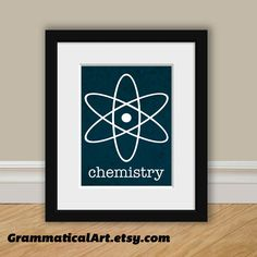 Science Chemistry Atomic Element Print - Perfect Science Gift for Your Favorite Scientist, Chemist, Teacher, Friend. $18.00, via Etsy.