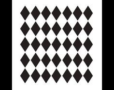 Medium Diamonds Pattern Stencil  Select Size  By por StudioR12