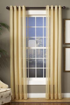 Lucky Stripe sheer grommet top curtains can be used alone or as an undertreatment for that layered look. Stripe, Panel Curtains, Home, Valance, Living Dining Room, Lush Decor, Furniture, Paneling, Grommet Curtains