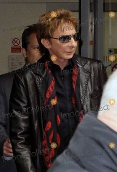 Barry Manilow Skull Scarf March 11, 2011 London, England