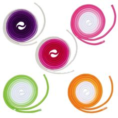 2-Color Gradient Rope by Chacott: Chacott's rhythmic gymnastic rope is guaranteed to steal the show with its beautiful fluorescent colors, eye-catching design, and FIG certification!    Light up the stage with these available colors:  Electric Green & Snow White Gradient, Orange Peel & Snow White Gradient, and Petunia Pink & Snow White Gradient!  On Sale for $79.