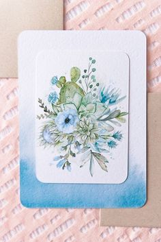 """Blooming Cactus"" invitation from Wedding Paper Divas"