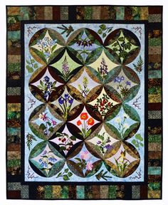 Northern Flora Quilt... beautiful flowers & other plants