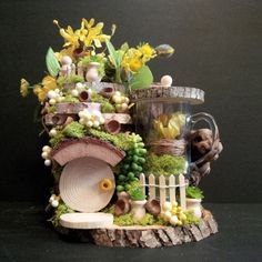 OOAK Fairy House: Sunshine Summer House