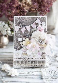 Scrapbooking. Flower card. Бум-Бюро: Две цветущие открыточки