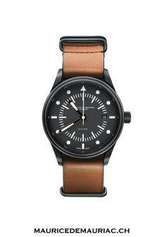 Simple yet elegant design to this watch from Swiss Watchmaker Maurice de Mauriac.  #watches    #watchesformen