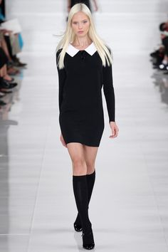 Ralph Lauren Spring 2014 | Simple, french. I wish there was a way to make knee highs not look so cheap in the streets