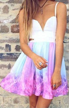Galaxy Dress . Inspiration to dip die dress