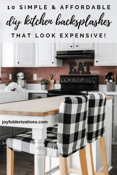 Affordable DIY backsplash Ideas that Look Expensive / Ideas for getting a unique and stylish backsplash in your kitchen. Includes Peel and stick, beadboard, faux subway tile, and even wallpaper that looks like stone! These ideas could also be used in a bathroom and apply to all decor styles, including farmhouse, modern and more. Discover a cheap way of installing backsplash that still looks expensive and stylish! #backsplashideas #diy #diybacksplash #kitchendesign