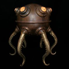 ~ Steampunk ~ creatures Sculptures The bizarre lamps of Evan Chambers Lampe Steampunk, Steampunk Kunst, Style Steampunk, Steampunk Gadgets, Steampunk House, Steampunk Design, Steampunk Diy, Steampunk Fashion, Steampunk Octopus