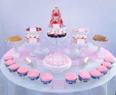 Bridal Shower Tea Party Dessert Table #SweetEsBakeShop #BridalShower