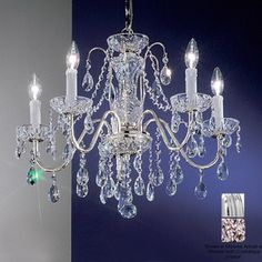 $360.00 from Lowes. Classic Lighting�Daniele 5-Light Chrome Crystal Chandelier