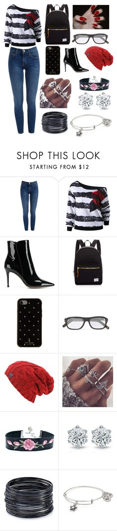 """Untitled #119"" by bunnylover-meb on Polyvore featuring Gianvito Rossi, Herschel Supply Co., Kate Spade, ABS by Allen Schwartz and Alex and Ani"